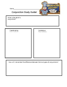 Conjuctions Study Guide