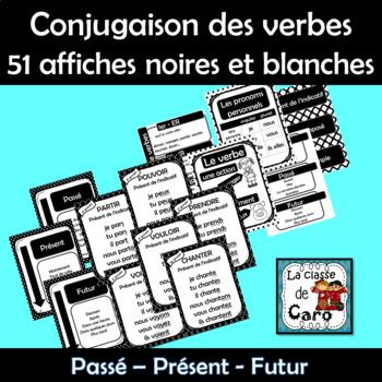 Conjugaison des verbes - 51 affiches