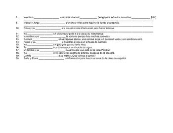 Conjugar verbos en presente #11
