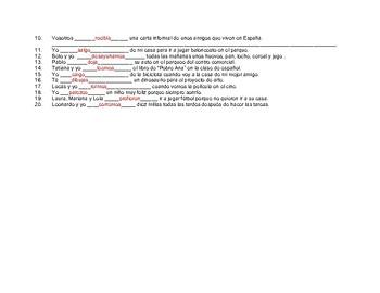 Conjugar verbos en presente #8