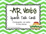 Conjugate -AR verbs (any tense) Spanish Task Cards