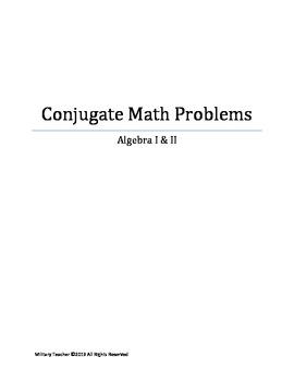 Conjugate Math Problems for Algebra
