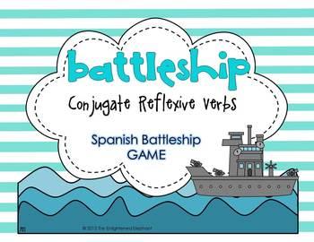 Conjugate Reflexive Verbs Spanish Battleship Game