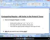 Conjugate Regular -AR Verbs Video Tutorial (Preterit Tense)
