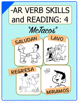 Conjugate Spanish -AR Verbs: Step-by-Step Verb Skills With Reading #4