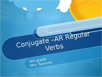 Conjugate Spanish Regular Verbs with AR
