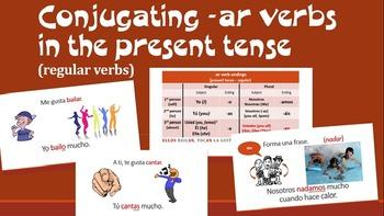 Conjugating -AR verbs in the Present Tense Spanish 1 Presentation