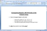 Conjugating -ER/-IR Verbs in Preterit Tense Worksheet