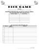 Conjugating IR Verbs Practice in Spanish, Dice Game