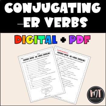 Conjugating Regular -ER French Verbs in Present Tense