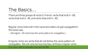 Conjugating Regular -ER Verbs PowerPoint