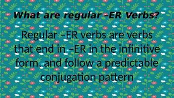 Conjugating Regular -ER Verbs in French