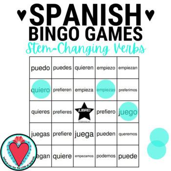 Conjugating Spanish Verbs Bingo - Stem Changing Verbs edition