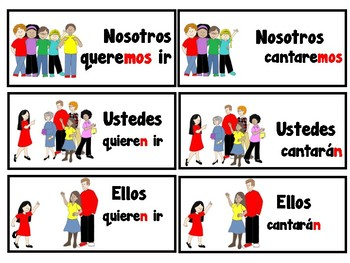 Conjugating Spanish Verbs in future tense -game/ Conjugando verbos en futuro