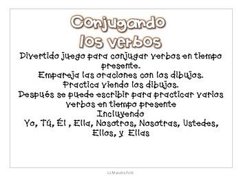 Conjugating Spanish verbs -game/ Conjugando verbos -juego en español