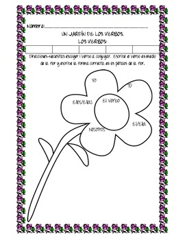 Conjugating Verbs in Spanish (fill in the blank)