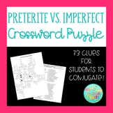 Conjugating the Preterite and Imperfect Tenses Crossword Puzzle