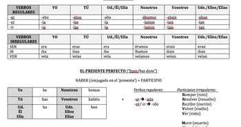 Conjugation Chart- End of the Year Review