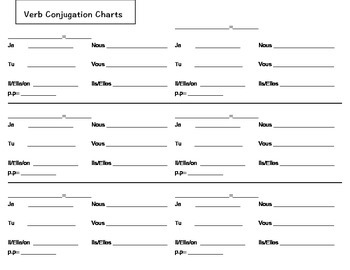 conjugation chart french verbs by awesome french lesson plans tpt. Black Bedroom Furniture Sets. Home Design Ideas