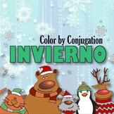 Conjugation Coloring Winter - Present, Preterite, Subjunctive