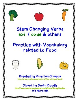 Stem Changing Verbs E>I and O>UE - Present Tense- Conjugating Practice