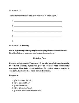 Conjugation Verbs in Spanish (AR ending verbs) Verbos en Español