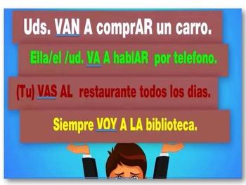 "Conjugation of Verb ""IR"" Spanish I and II based on Realidades I and II"