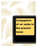 Conjugation of -ar verbs in the present tense