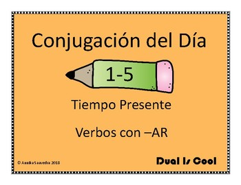 Spanish Conjugation of the Day 1-5 (Conjugación del Día 1-5)