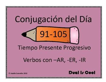 Conjugation of the Day 91-105 (Conjugación del Día 91-105)