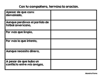 Conjunciones Concesivas, Condicionales y Finales