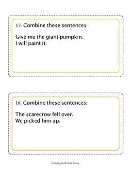 Conjunction Activity Cards