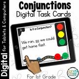 Conjunction Activity: First Grade Digital Task Cards for Grammar Practice
