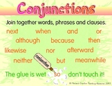 Conjunction Anchor Chart and Conjunction Word Wall