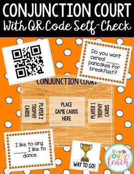 Conjunction Court Reading Game with QR Codes