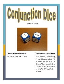 Conjunction Dice, Grammar, Speech Language activity