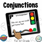 Conjunction Games: First Grade BOOM Cards™ for Grammar Centers