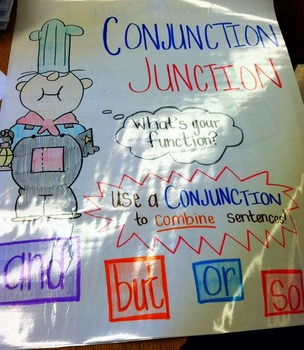 Conjunction Junction - ANCHOR CHART