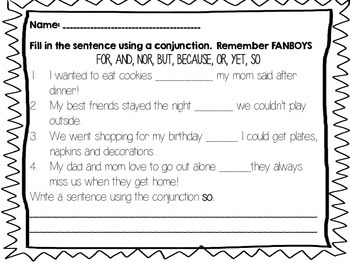 Conjunction, Junction...What's your function? {simple and compound sentences}