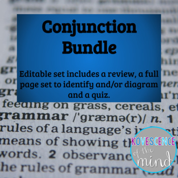 Conjunction Pack: Identify, Diagram, Review and Test