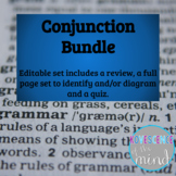 Conjunction Bundle: Identify, Diagram, Review and Test
