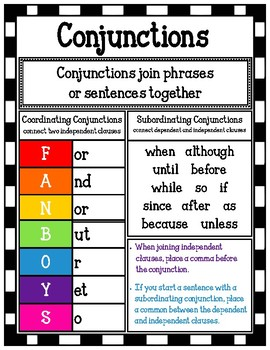 Conjunction Poster/Mini-Anchor Chart