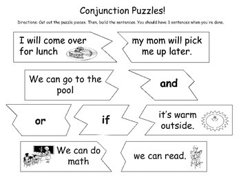 Conjunction Puzzles and Practice Sheets