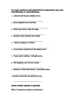 Conjunction Quiz!