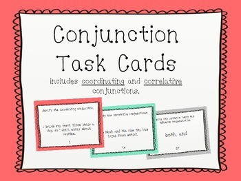 Conjunction Task Cards