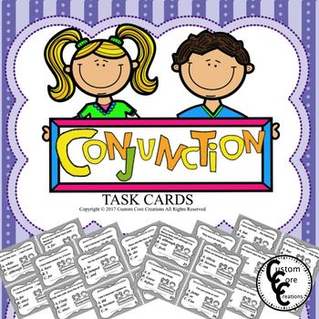 Conjunction Task Cards (Parts of speech)