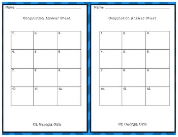 Conjunction Task Cards Free Printable