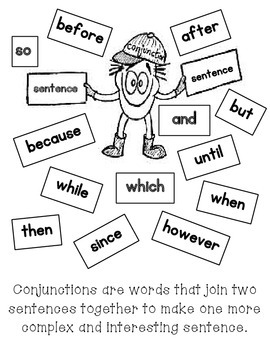 Conjunction Words Wall Display