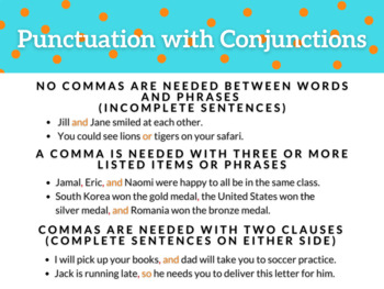 Conjunction and Interjection Presentation and Fill-in-the-Blank Student Notes