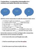 Conjunction practice- Common Core Aligned